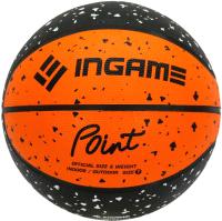 Баскетбольный мяч Ingame Point №7 (черный/оранжевый) -