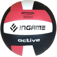 Мяч волейбольный Ingame Active (черный/белый/красный) -