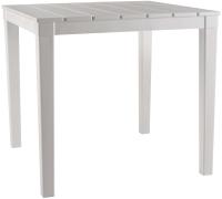 Стол пластиковый Ellastik Plast Прованс Квадратный 4 ножки 80x80x70 (белый) -