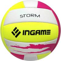Мяч волейбольный Ingame Storm (розовый/желтый/белый) -