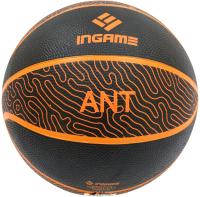 Баскетбольный мяч Ingame Ant №7 (черный/оранжевый) -