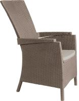 Кресло садовое Keter Vermont / 238449 (капучино) -