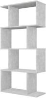 Стеллаж Polini Kids Home Smart Фигурный 4 секции / 0002273.75 (бетон) -
