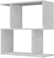 Стеллаж Polini Kids Home Smart Фигурный 2 секции / 0002270.75 (бетон) -