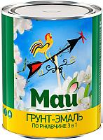 Эмаль Ярославские краски Май на ржавчину 3 в 1 (800г, зеленый) -