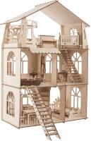 Кукольный домик ХэппиДом Коттедж с мебелью Premium / HK-D010 -