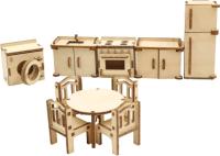 Комплект аксессуаров для кукольного домика ХэппиДом Кухня / HK-M004 -