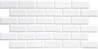 Панель ПВХ листовая Grace Блок белый -