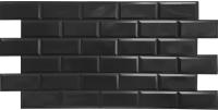 Панель ПВХ листовая Grace Блок черный -