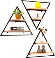 Комплект полок Грифонсервис СН6 треугольник (черный/палисандр) -