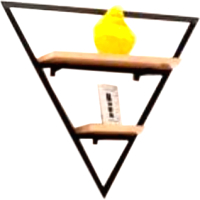Полка Грифонсервис СН6-1 треугольник (черный/палисандр) -