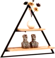Полка Грифонсервис СН6-2 треугольник (черный/палисандр) -