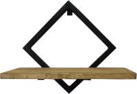 Полка Грифонсервис СН11 ромб (черный/палисандр) -