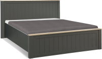 Двуспальная кровать Олмеко Прованс 37.24-02 (диамант серый/дуб каньон/Masa Decor диамант) -