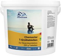Средство для бассейна дезинфицирующее Chemoform Кемохлор Т в таблетках по 200г (5кг) -
