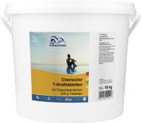 Средство для бассейна дезинфицирующее Chemoform Кемохлор Т в таблетках по 200г (10кг) -