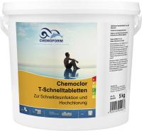 Средство для бассейна дезинфицирующее Chemoform Кемохлор Т быстрорастворимые таблетки (5кг) -