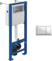 Инсталляция для унитаза Cersanit Vector S-IN-MZ-VECTOR + P-BU-ENT/Wh (пластик белый) -