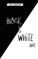 Записная книжка Эксмо Black & White Note / 9785699940820 -