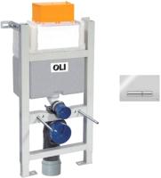 Инсталляция для унитаза Oli Expert 82 / 721703 + 139185 (глянцевый хром) -