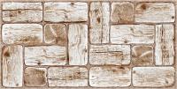 Панель ПВХ листовая Grace Бревна Белый сруб -