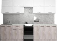 Готовая кухня Хоум Лайн Гранд Лайт 50-2.9 (дуб клабхауз серый/белый снег) -