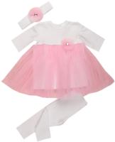 Набор для крещения Awis 2128 (р.68, белый/нежно-розовый) -