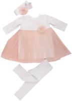 Набор для крещения Awis 2130 (р.74, белый/нежно-розовый) -