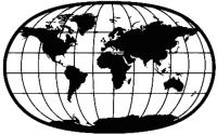 Декор настенный Arthata Земной шар 90x55-B / 064-1 (черный) -