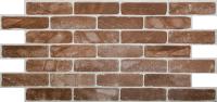 Панель ПВХ листовая Grace Кирпич старый коричневый -