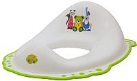 Детская накладка на унитаз Maltex Мишка и друзья / 5337 (белый/зеленый) -