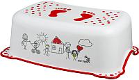 Табурет-подставка Maltex Семья / 5948 (белый/красный) -