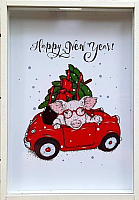 Копилка Grifeldecor Happy new year / BZ182-3C176 -