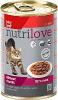 Корм для кошек Nutrilove Chunks Cat beef in jelly (415г) -