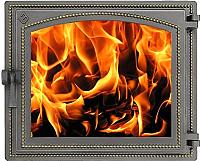Дверца печная Везувий 240 (бронза) -