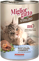 Корм для кошек Miglior Gatto Steril Fish/Shrimp (400г) -