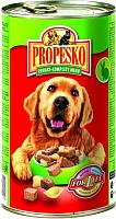 Корм для собак Propesko Chunks Dog Rabbit & Beef and Pasta (1.24кг) -