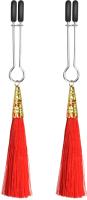Тиски для сосков LoveToy Glamor Tassel Nipple Clamp Red / LV761009 -