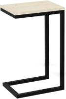 Приставной столик ТитанМетаБел Роксет (скандинавский бук/черный матовый) -