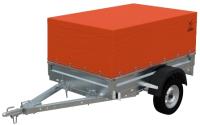 Прицеп для автомобиля Экспедиция Стандарт плюс 111200 Евро (R13, 2000x1250x300, тент/каркас 200-600, оранжевый) -