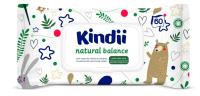 Влажные салфетки детские Kindii Natural Balance с экстрактом алоэ вера и аллантоином (60шт) -