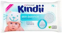 Влажные салфетки детские Kindii Skin Balance с миндальным маслом и витамином Е (72шт) -