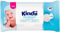 Влажные салфетки детские Kindii Skin Balance с миндальным маслом и витамином Е (клапан, 100шт) -