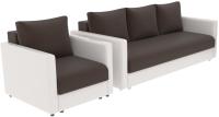 Комплект мягкой мебели Divanta Эдем 7 5-6 (диван, кресло) -