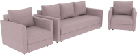 Комплект мягкой мебели Divanta Эдем 7 8 (диван, кресло) -