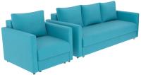 Комплект мягкой мебели Divanta Эдем 7 10 (диван, кресло) -