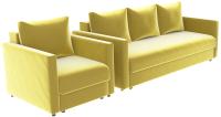 Комплект мягкой мебели Divanta Эдем 7 16 (диван, кресло) -