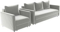 Комплект мягкой мебели Divanta Эдем 7 18 (диван, кресло) -