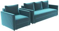 Комплект мягкой мебели Divanta Эдем 7 22 (диван, кресло) -