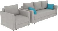 Комплект мягкой мебели Divanta Эдем 7 10-3 (диван, кресло, декор подушки) -